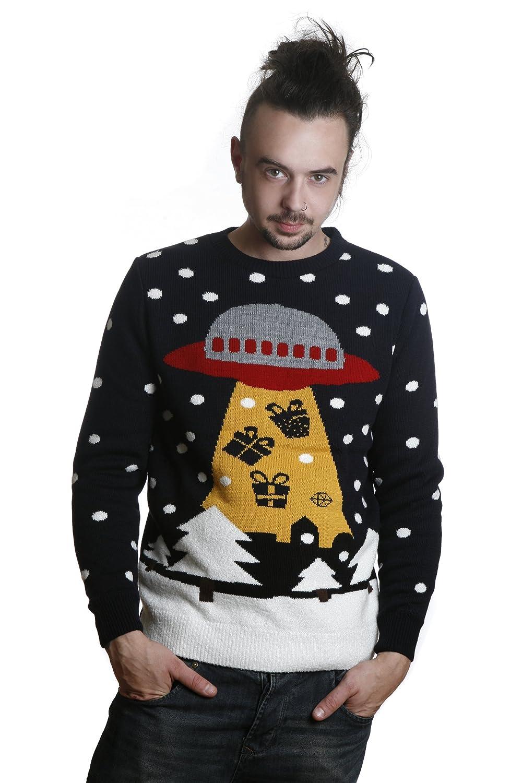 Item Details: Mens Indie Hipster Geek Kitsch UFO Aliens Christmas ...