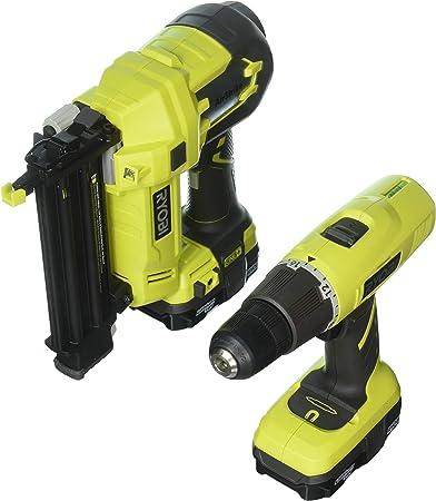 18-Volt Lithium-Ion Cordless Drill Driver Impact Driver Kit 2-Tools Ryobi ONE
