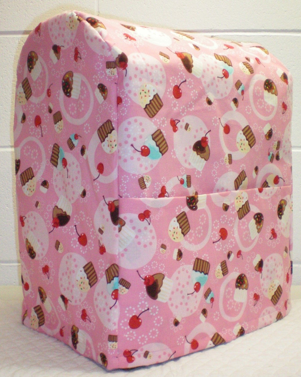 Penny's Needful Things Pink Cupcake Cover Compatible for Kitchenaid Stand Mixer (All Pink Cupcake, 4.5,5,6qt Lift Bowl)