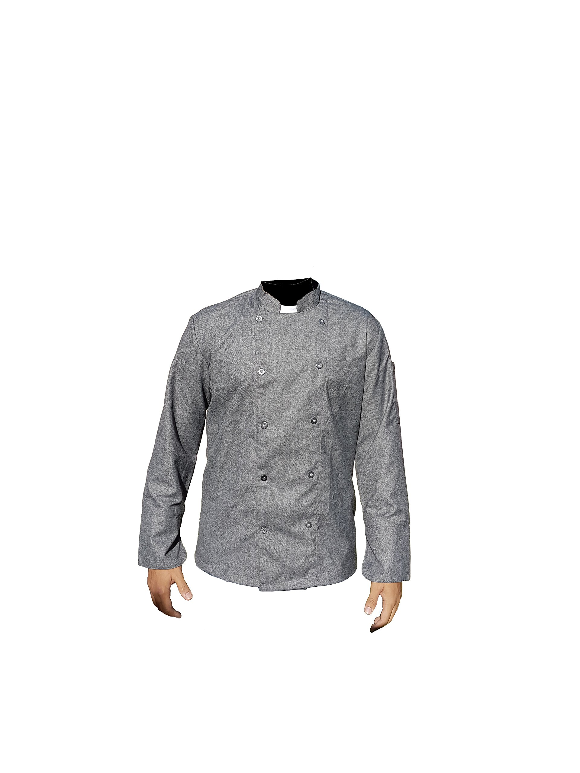 GRAY PROFESSIONAL CHEF COAT/CHEF JACKET