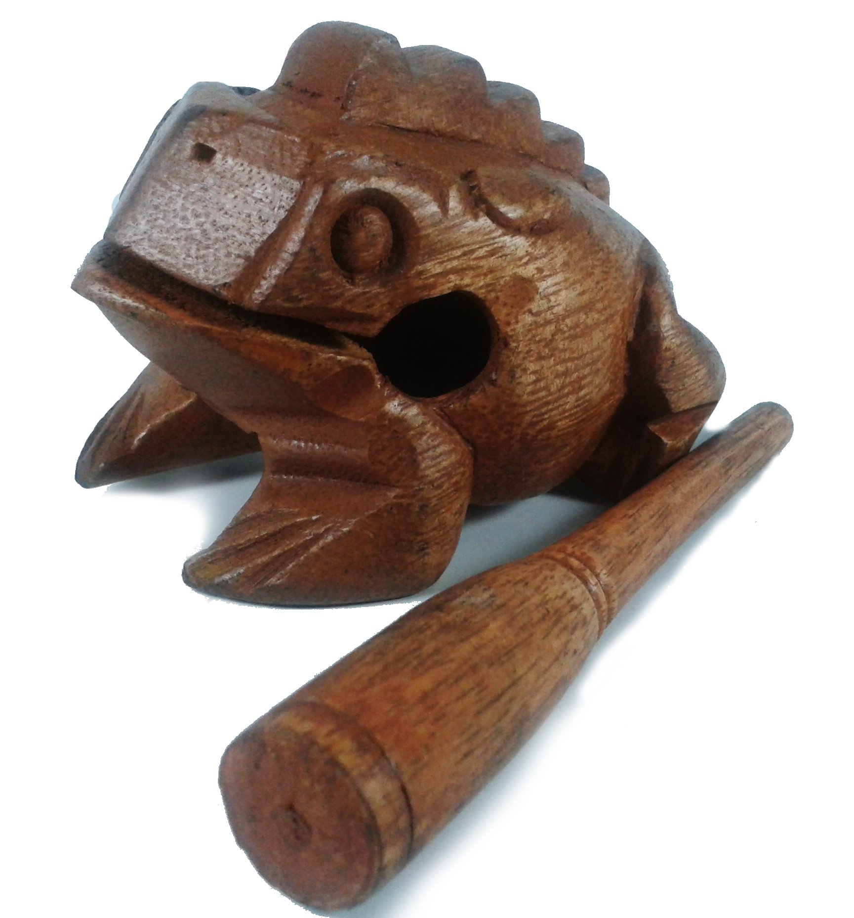 Lastwizard Percussion Small Wood Carving Frog Musical Instrument Tone Block, Approx. 3.8'' Long by LASTWIZARD