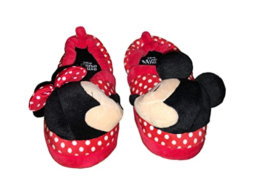 310e881380ae9 Minnie Mouse Disney Girls Mickey Mouse Kissing Slide Slippers