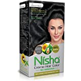 Nisha Cream hair color superior quality with sunflower & avocado oil NO AMMONIA Cream FORMULA Rich, bright, long lasting & smooth care for your precious hair!