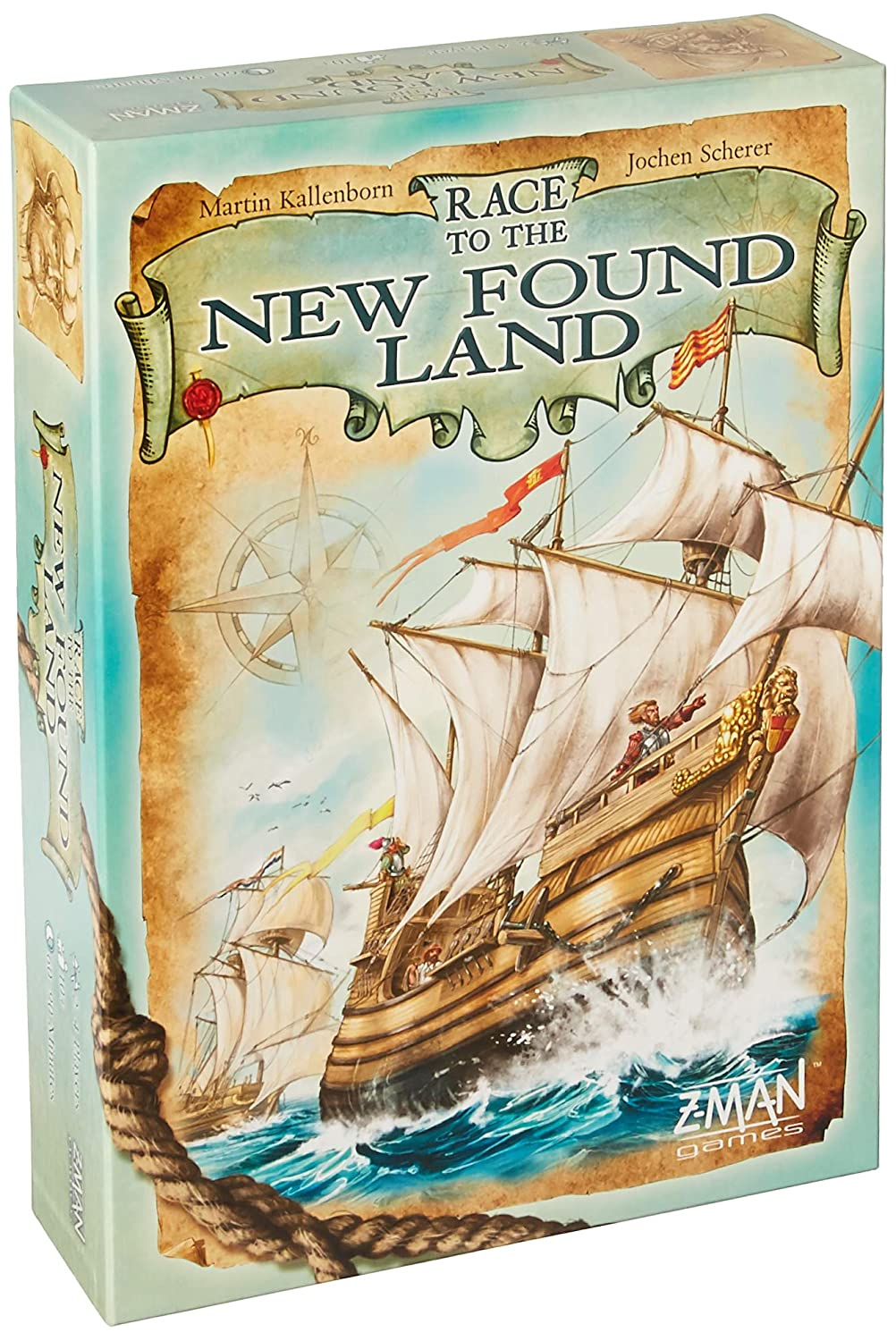Fantasy Flight Games Games Games Race to The New Found Land - English dc32eb