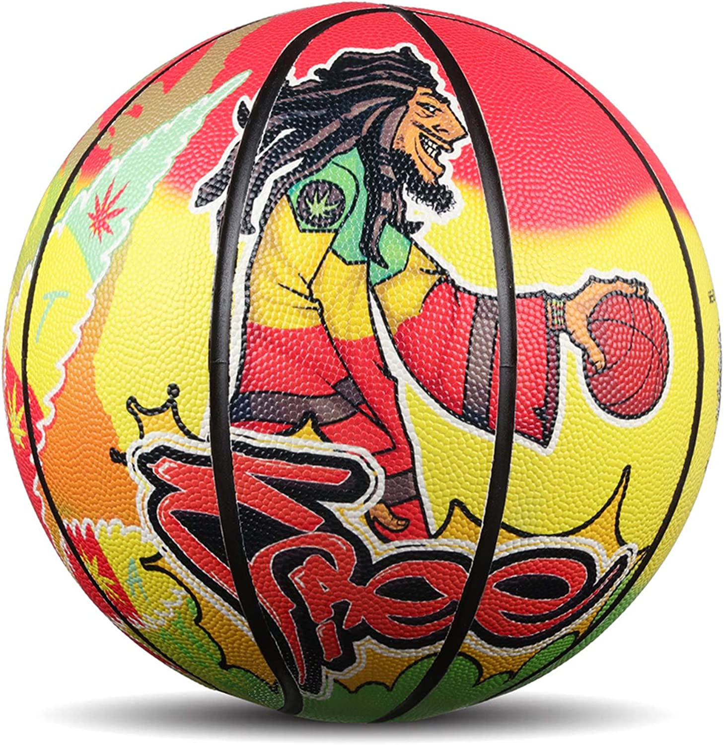 Original Graffiti No. 7 PU NBA Street Outdoor Basketball (7, Yellow) : Clothing