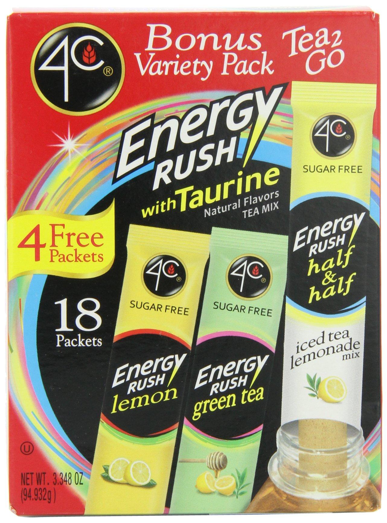 4C Totally Light 2 Go Energy Rush Bonus Variety Pack, 3.4-Ounce (Pack of 3) by 4C