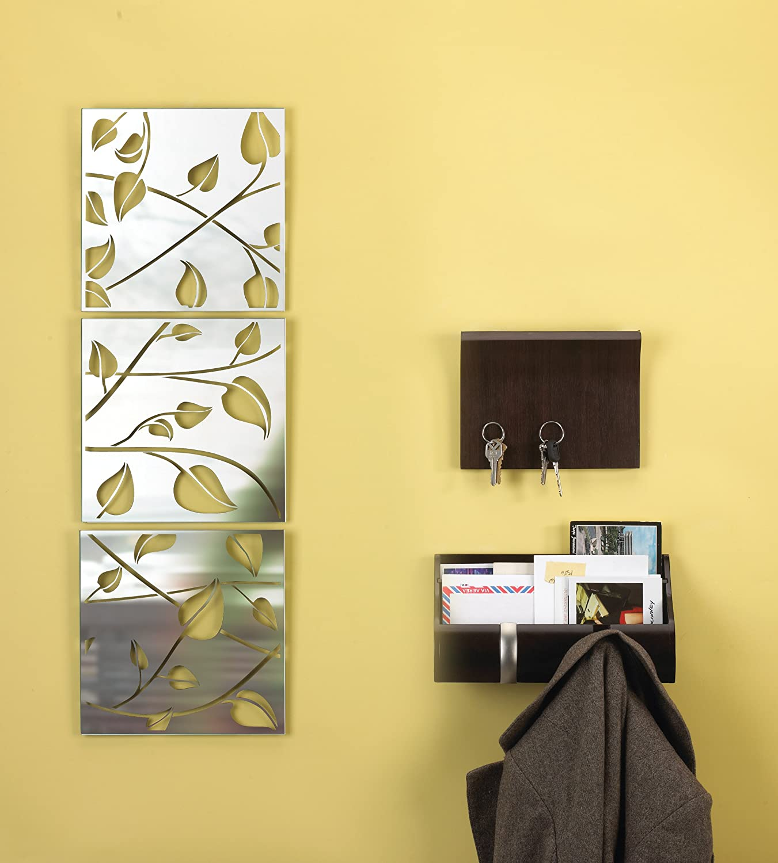 Amazon.com: Umbra Folla Mirrored Glass Wall Tiles, Set of 3: Home ...