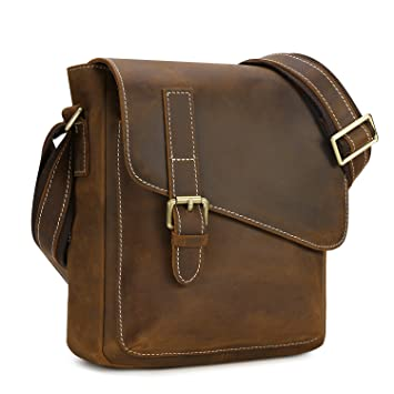 Kattee Men's Casual Small Leather Cross Body Shoulder Satchel Bag ...