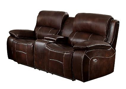 Awe Inspiring Homelegance Mahala Power Recliner Loveseat Top Grain Leather Match Brown Pdpeps Interior Chair Design Pdpepsorg