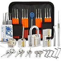 Eventronic 30+4 Lock Pick Set, 30-delige Lock Picking Tools met 4 transparante trainingssloten en handmatige en…