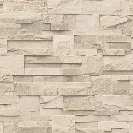 Muriva J27407 Papier Peint De Luxe En Vinyle Motif Mure De Briques