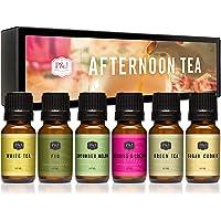 Afternoon Tea Set of 6 Premium Grade Fragrance Oils - Fig, White Tea, Green Tea, Sugar Cookies, Cucumber Melon, and…