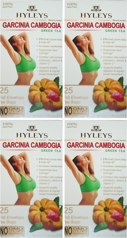 Amazon Com Hyleys 100 Natural Slim Tea Garcinia Cambogia Green