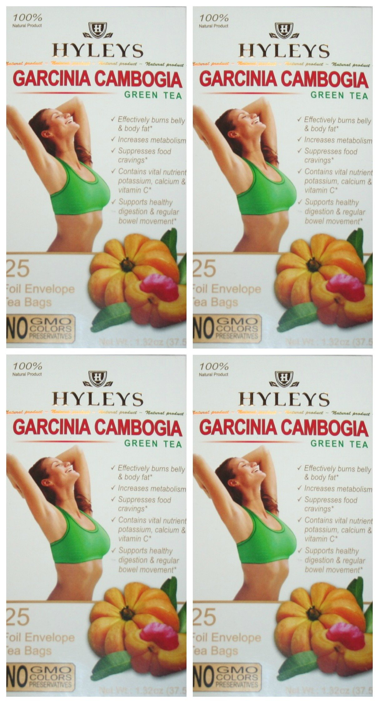 Hyleys 100 Natural Slim Tea Garcinia Cambogia Green Tea 25