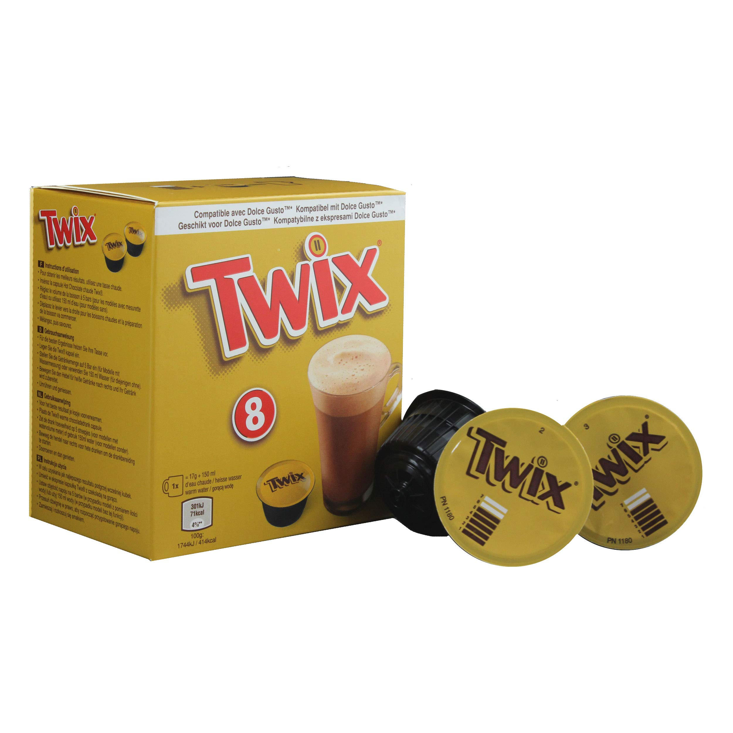 Dolce Gusto Twix Hot Chocolate 8 Drinks