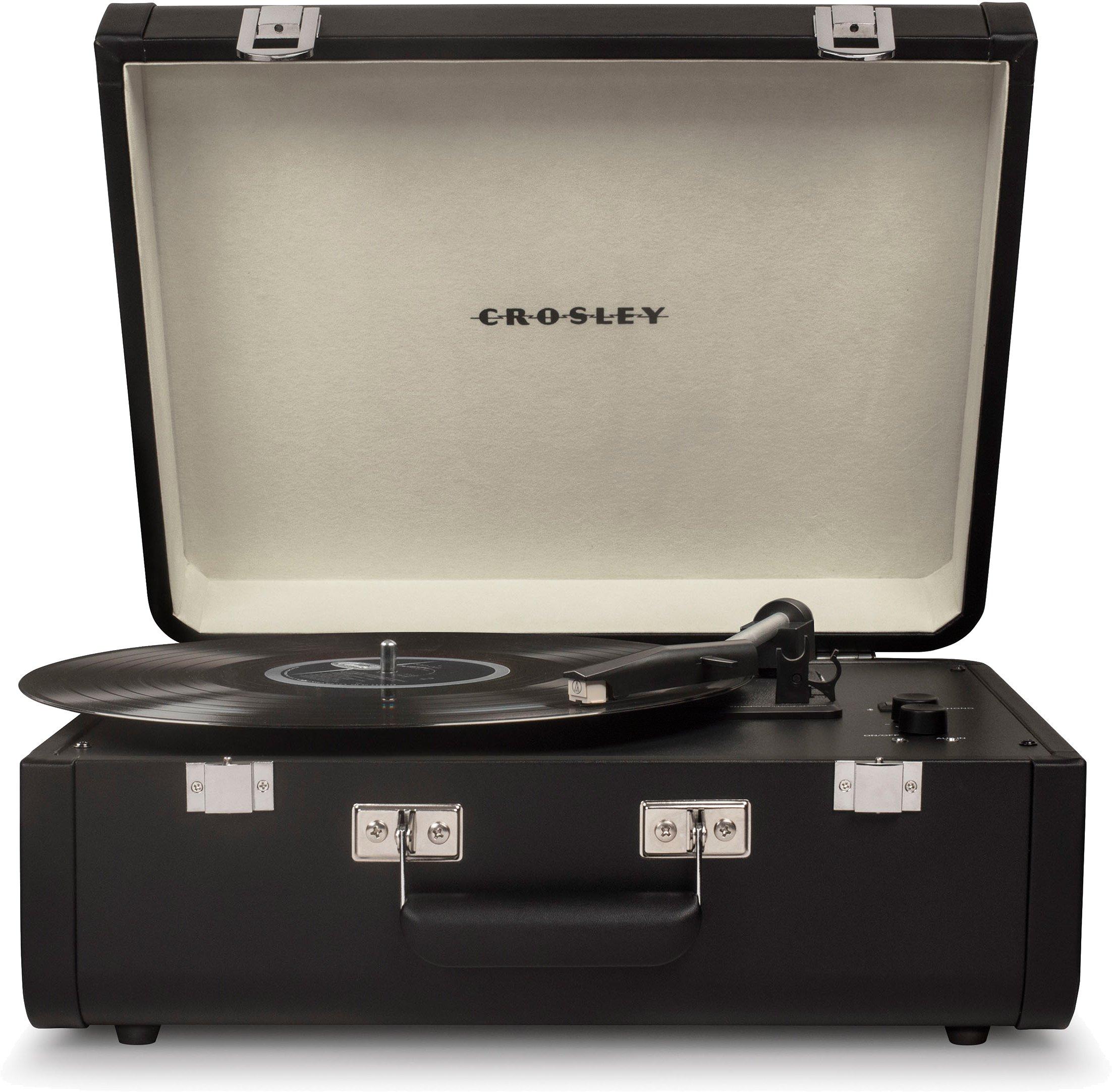 Crosley CR6252A-BK Portfolio Portable Turntable with Bluetooth, Black