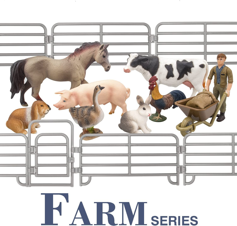 18pcs Plastic Farm Animals Figures Kids Dog Cow Sheep Horse Donkey Toy Gifts
