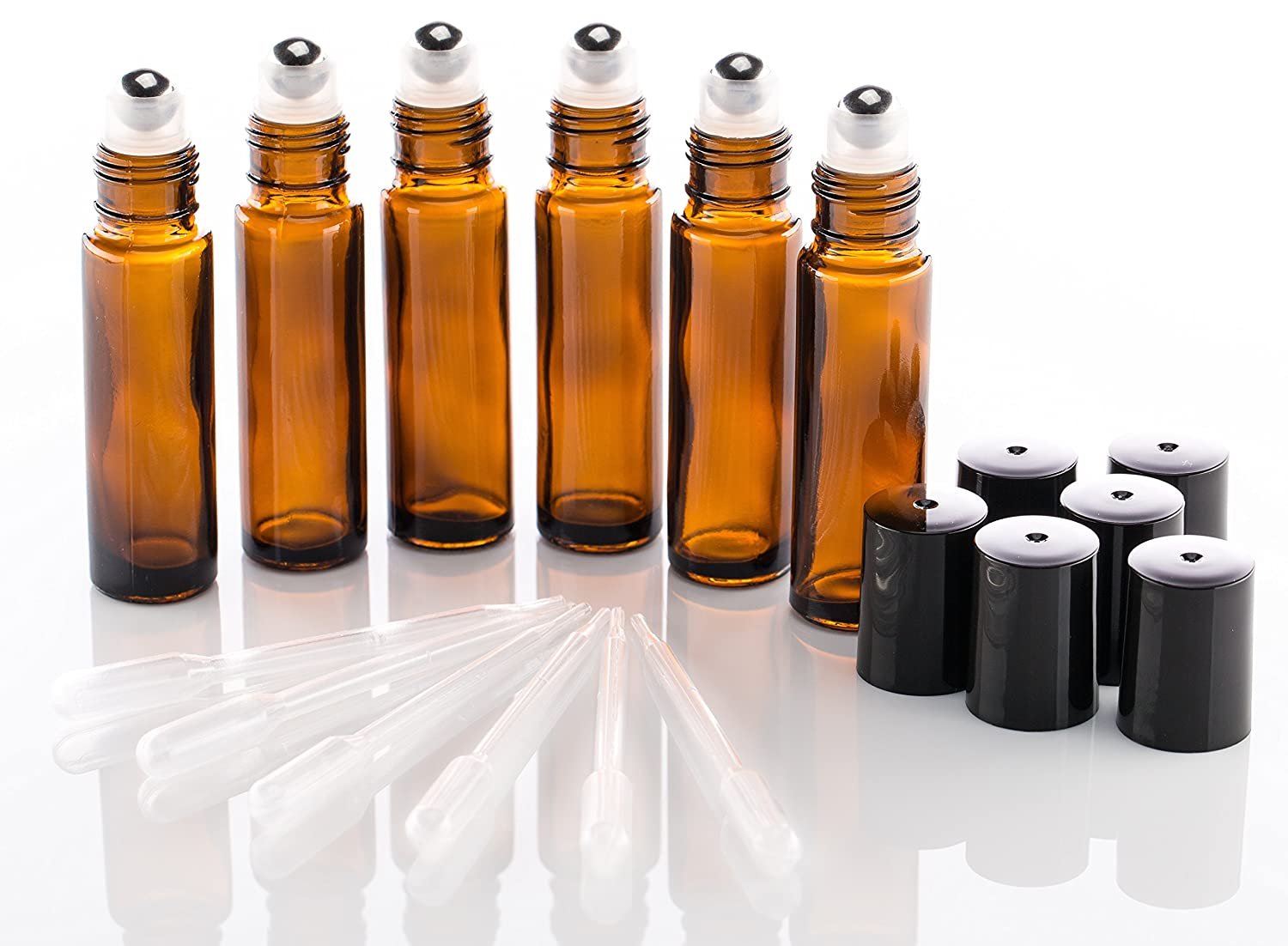 Buy Cheap Sunreek 3 Ml Amber Glass Bottle W/ Black Cap 15 Pack Strong Packing Aromatherapy
