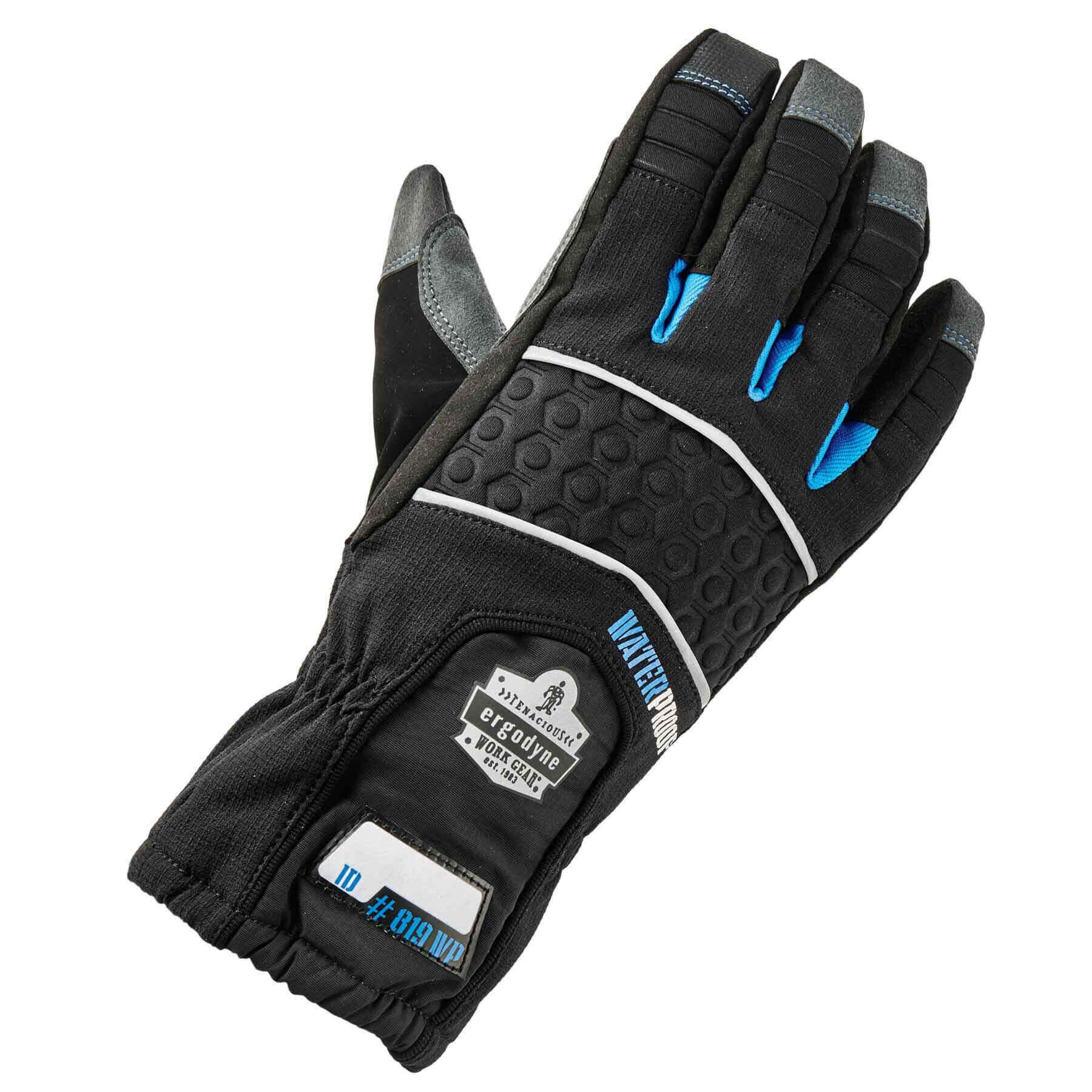 Ergodyne ProFlex 819WP Extreme Thermal Waterproof Insulated Work Gloves, Touchscreen Capable, Black, Small