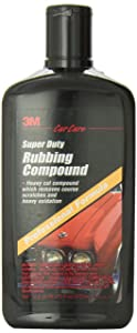 3M Super Duty Rubbing Compound, 39004, 1 pt (16 fl oz/473 mL)
