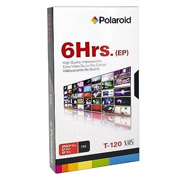 Polaroid prt120p0001 pro-vhs T-120 6 horas grabación de Grado Profesional VHS cinta de casete: Amazon.es: Electrónica