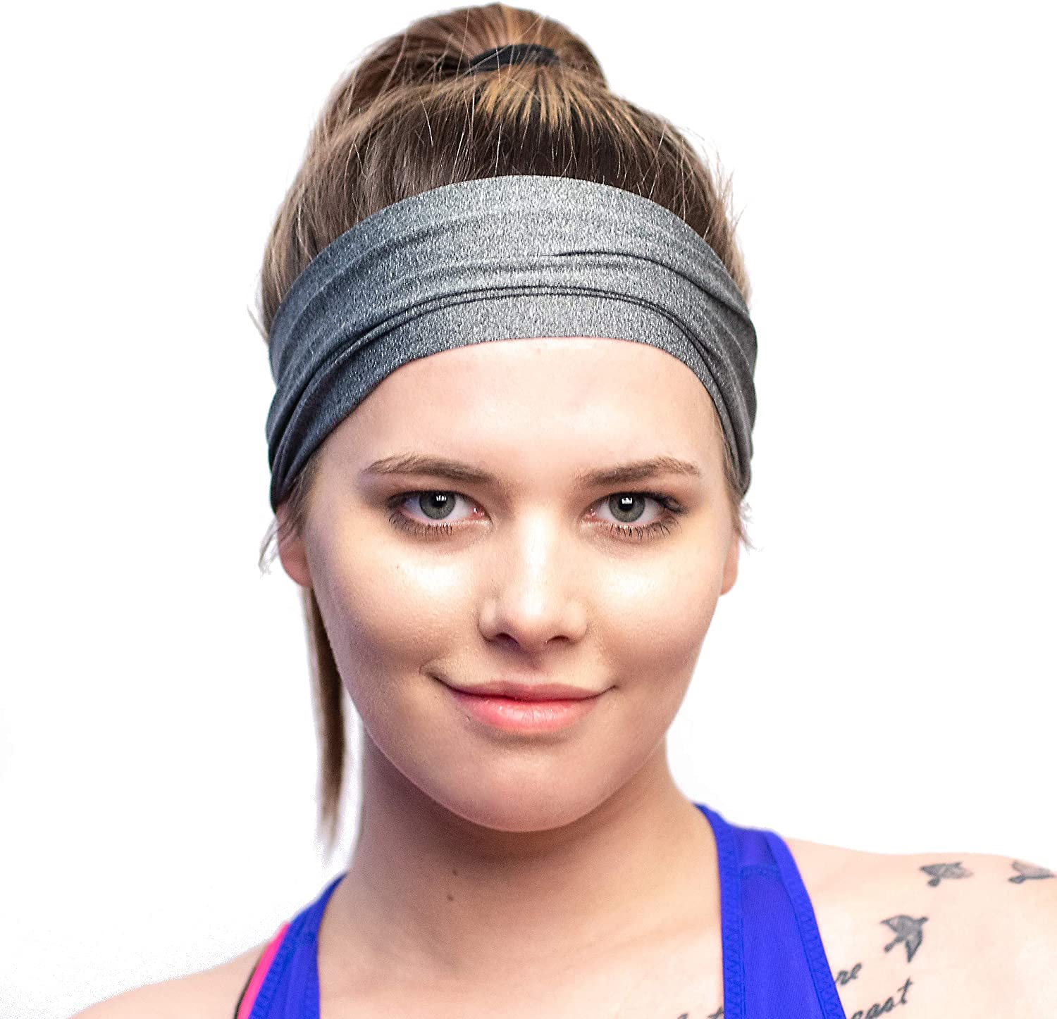 Red Dust Active Lightweight Sports Headband - Moisture Wicking Sweatband - Ideal for Running, Cycling, Yoga and Athletic Workouts