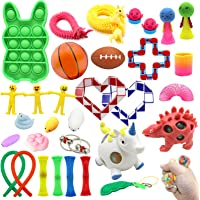 32 PCS Sensory Fidget Toy Set Stress Relief and Anti Anxiety Toys for Kids and Adult with Stretchy Sensory Toys,Sensory…
