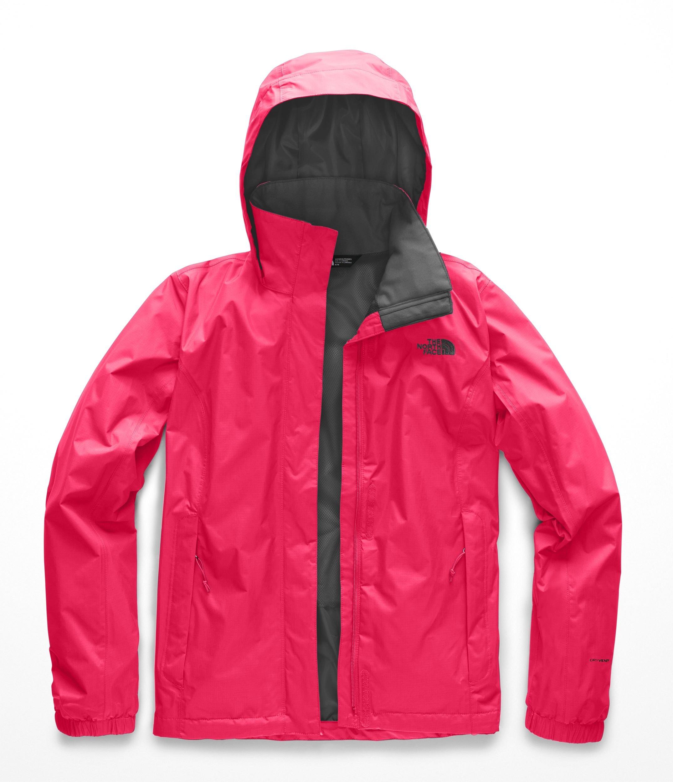 The North Face Women Resolve 2 Jacket - Atomic Pink & Asphalt Grey - M