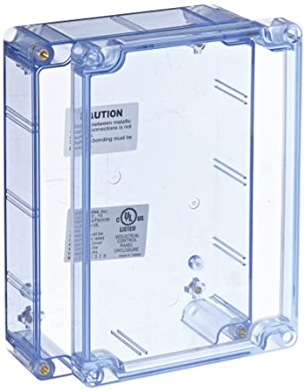 How To Remove Blue Electrical Box: BUD Industries BT-2724 Polycarbonate NEMA 4X Box 6-23/32 Length x 4-3/4 Width x 2-5/32 Height Transparent Bluerh:amazon.com,Design