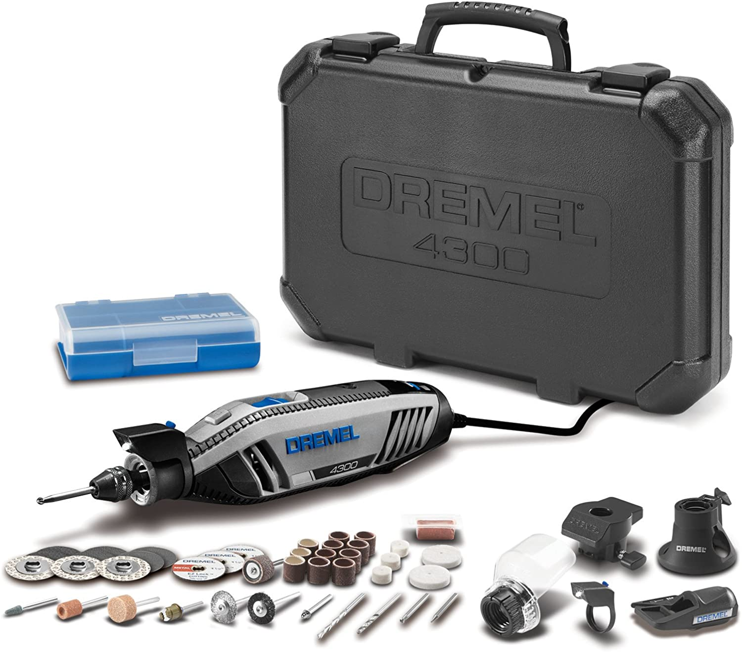 Dremel 4300-5/40 High Performance Rotary Tool Kit with LED Light- 5 Attachments & 40 Accessories- Engraver, Sander, and Polisher- Perfect for Grinding, Cutting, Wood Carving, Sanding, and Engraving - -