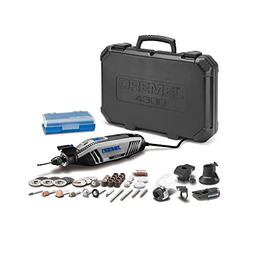 Dremel 4300-5 40 High Performance Rotary Tool Kit with LED Light- 5 Attachments 40 Accessories- Engraver, Sander, and Polisher- Perfect for Grinding, Cutting, Wood Carving, Sanding, and Engraving