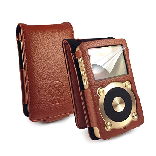 10 opinioni per Tuff-Luv Faux Leather Case Cover for Fiio X1- Brown