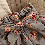 Newborn Baby Girls Clothes Floral Sleeve