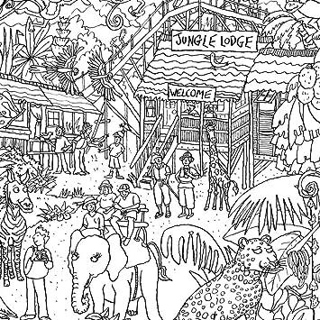 Amazon.com: Really Giant Posters Jungle Safari Coloring Poster ...