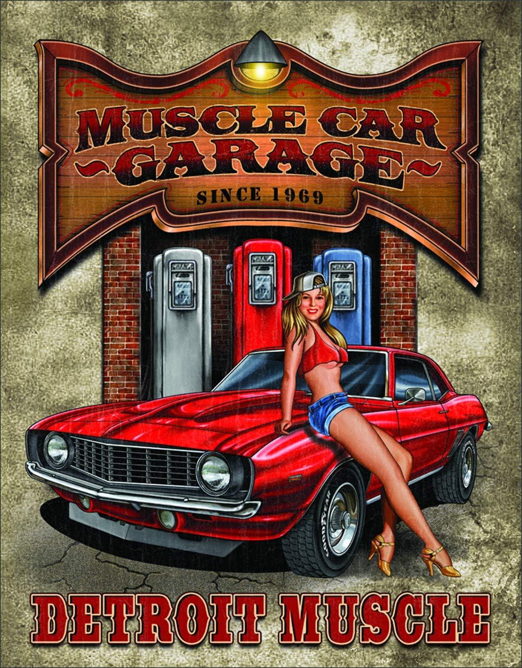 Legends - Muscle Car Garage Tin Sign