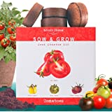 Nature's Blossom Tomato Garden Kit. Grow 4 Types of Tomatoes from Seed. Gardening Starter Set For Growing Unusual Tomatoes; S