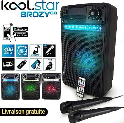 Koolstar BROZY08 - Altavoz Karaoke Party 400 W, batería con 2 ...