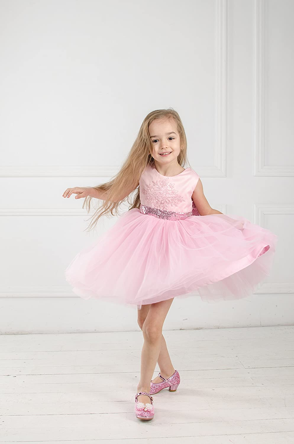 Amazon.com: Pink pageant dress Pink tutu Flower girl dress baby