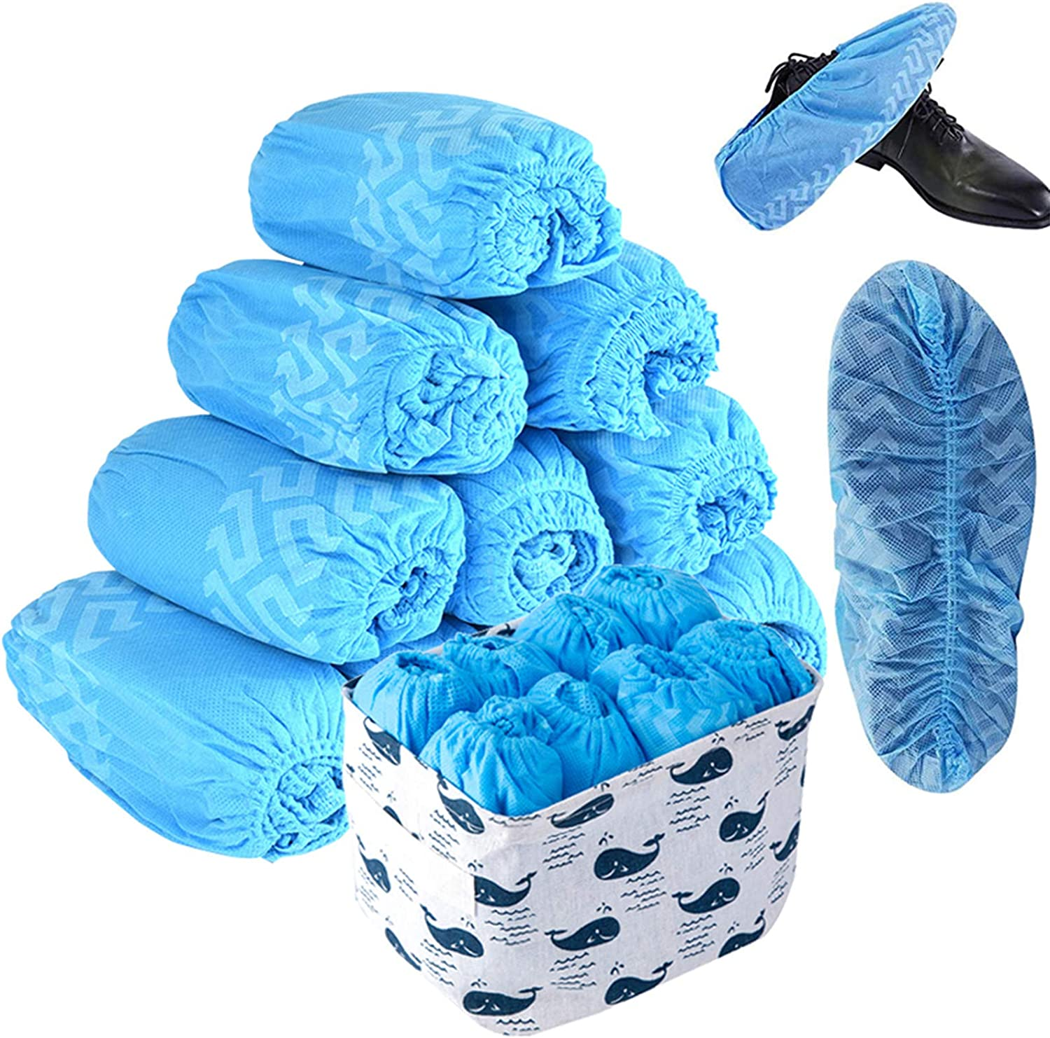 Details about  /200 pcs Disposable Shoe Covers Anti-slip Non-woven Dust Proof for Indoor Home