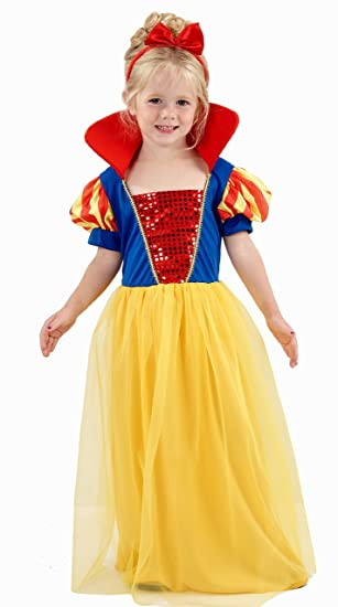 snow princess girls dress up costume 2 3 4 amazon co uk toys games