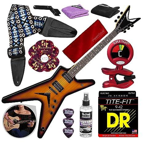 Dean MLX Guitarra eléctrica, Trans Brazilia con correa para ...
