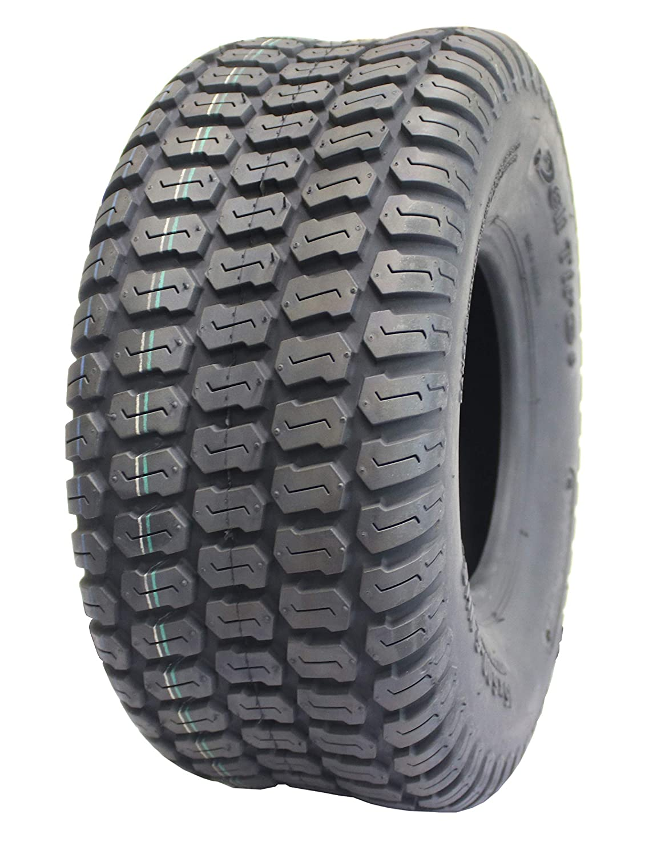 Deli Tire S-374, Turf Master Tread, 4 Ply, Tubeless, Lawn and Garden Tractor Tire (15x6.00-6)