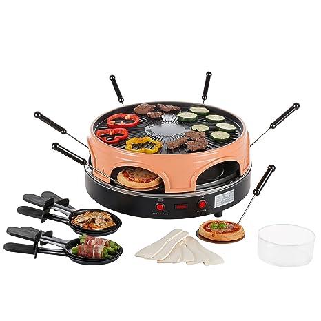 Ultratec – Pizza Salva/raclette Horno para hasta 6 personas, puede usarse como Raclette