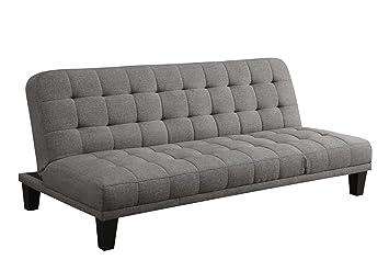 dhp metropolitan futon lounger gray linen amazon    dhp metropolitan futon lounger gray linen  kitchen      rh   amazon