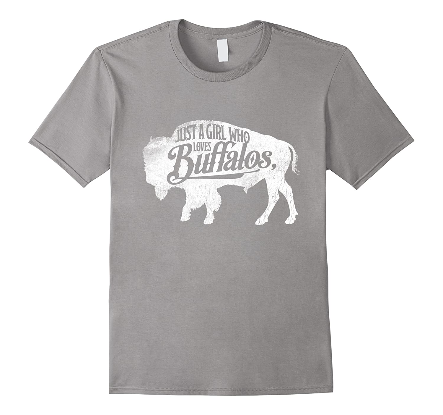 ecc939c55fb5 Just A Girl Who Loves Buffaloes Buffalo TShirt Bison Lover-ANZ ...