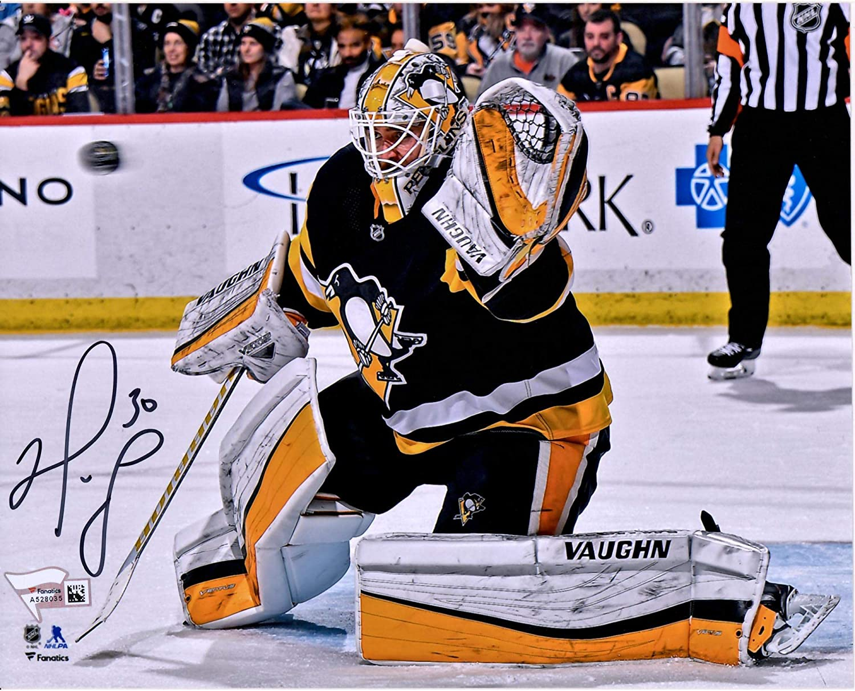 Matt Murray Pittsburgh Penguins Autographed 8 x 10 Black Jersey Making Save Photograph Fanatics Authentic Certified