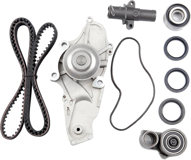 Timing Belt Kit including timing Belt water pump with gasket tensioner bearing etc,OCPTY Compatible for 08 09 10 Honda Odyssey//04 05 06 07 08 09 10 11 12 13 14 15 Honda Pilot