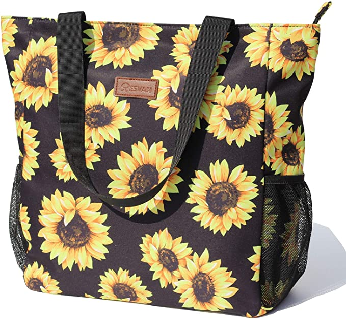 Trendy Floral Water Resistant Large Shoulder Bag