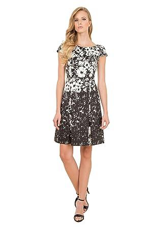 NEW Luisa Spagnoli Elegant Black   White Floral Stretch Cotton skirt ... 9ad63649ff5