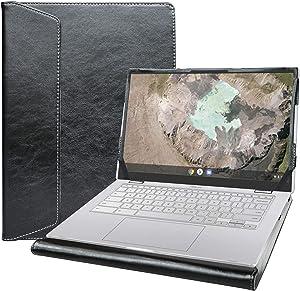"""Alapmk Protective Case Cover for 14"""" ASUS Chromebook C425/Chromebook Flip C433TA & Lenovo Yoga Slim 7 14IIL05/Ideapad Slim 7 14IIL05 & Dell Latitude 7410/Latitude 7410 2-in-1 Laptop,Black"""
